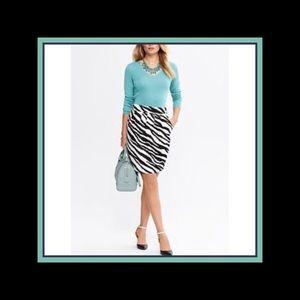 New Banana Republic zebra print skirt